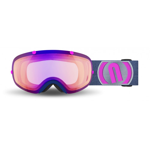 Masque Ski Neon Wire Blue Navy Pink Phototronic