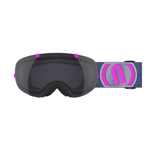 Masque Ski Neon Wire Black Pink Fluo Mirror Black