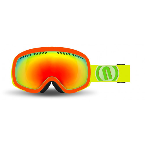 Masque Ski Neon Drop Red Fluo Mirror Red