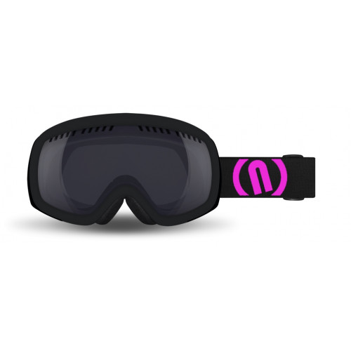 Masque Ski Neon Drop Black Pink Fluo Mirror Black