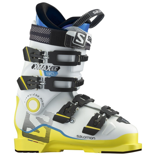 CHAUSSURE DE SKI ENFANT X MAX LC 80 RACING WHITE YELLOW