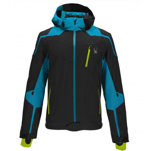 veste de ski spyder bromont black electric blue bryte yellow precision ski. Black Bedroom Furniture Sets. Home Design Ideas