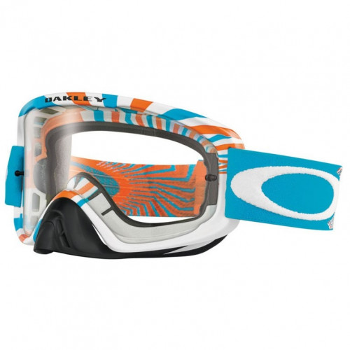 Masque De Vtt Oakley O2 Mx Skull Rushmore Red / Clear