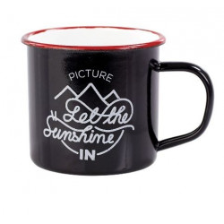 Mug Picture Organic Sherman Enameled Black