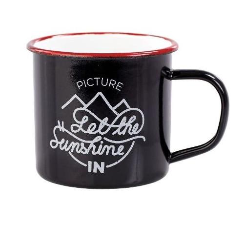 Mug Picture Organic Sherman Enameled Black