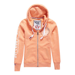 Sweat Superdry Track&Field Lite Ziphood Coral Pnch