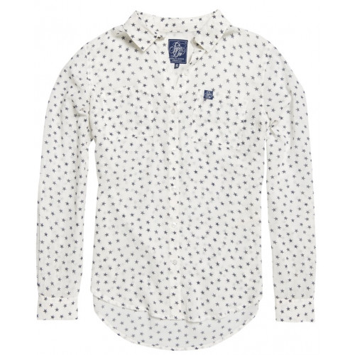 Chemise Superdry Sheer Regatta Mini Star White