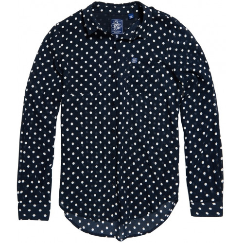 Chemise Superdry Sheer Regatta Navy Marine Dot