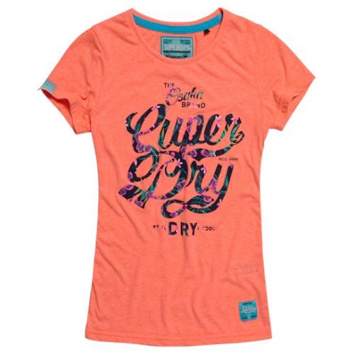 T-shirt Superdry Osaka Brand Tropical Tee Coral