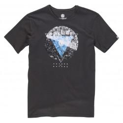 Tee-shirt Element Central Ss Boy Flint Black