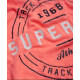 T-shirt Superdry Trackester Coral Punch Snowy