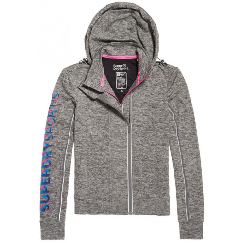 Sweat Superdry Core Gym Ziphood Charcoal Grit