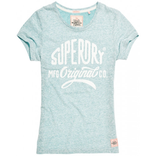 T-shirt Superdry Mfg Entry Foam Green Snowy