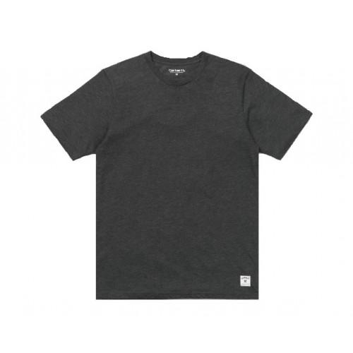 Tee-shirt-Carhartt Holbrook Ringer Black Heather