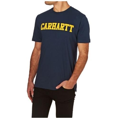 Tee-shirt Carhartt College Lt Blue Yellow