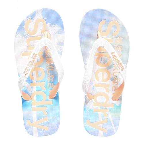 Tongs Superdry Aop Flip Flop Optic / Candy Coral
