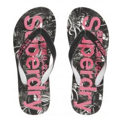 Tongs Superdry Flip Flop Marbelled Black Hawaiian