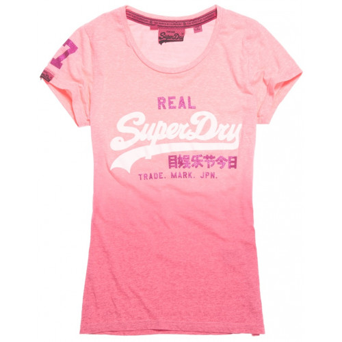 T-shirt Superdry Vintage Logo Snowy Fluro Pink Sno