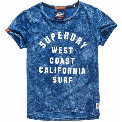 T-shirt Superdry West Coast Bf Bolivia Blue Indigo