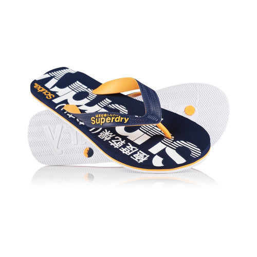 Tongs Superdry Scuba Flip Flop Dark Navy / Orange