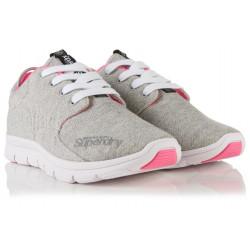 Baskets Superdry Scuba Runner Grey Grit Fluro Pink