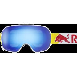 Masque Red Bull Magnetron Shiny White Blue Snow