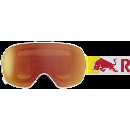 Masque Red Bull Magnetron Matt White Red Snow
