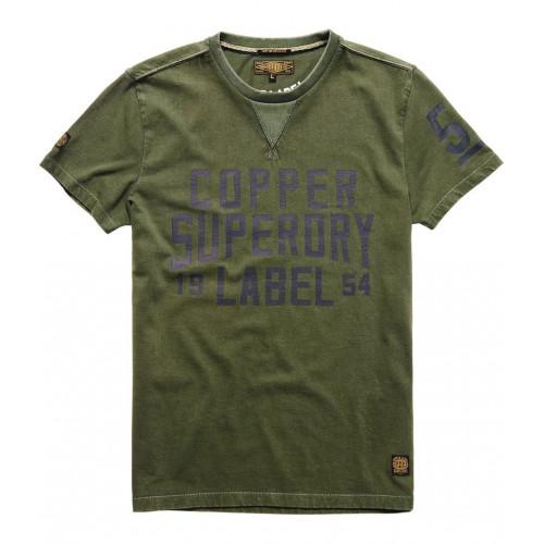 T-shirt Superdry Copper Label Café Race Olive Drab
