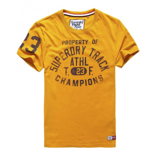 T-shirt Superdry Trackster S/s Tee Track Gold