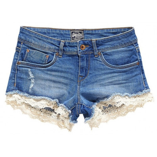 Short Superdry Lace Hot Short Mid Wash