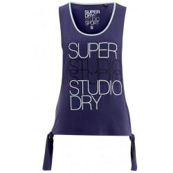 Débardeur Superdry Studio Tie Belle Blue/Washed