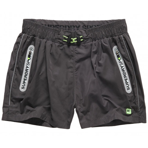 Short Superdry Sports Active Training Carbon Grey