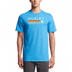 Tee-shirt Hurley Blender Light Photo Blue Heather