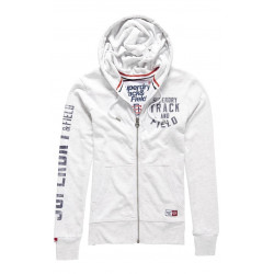 Sweat Capuche Superdry Trackster Ziphood Ice Marl