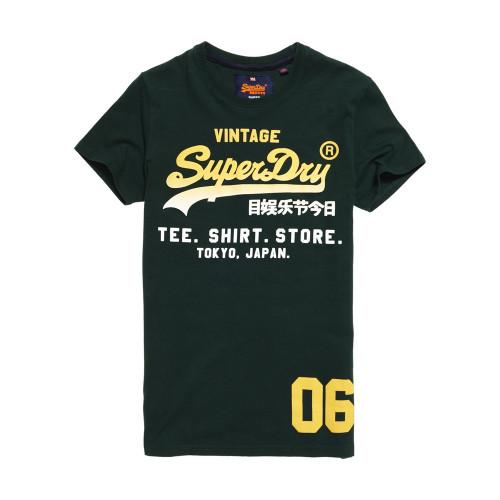 T-shirt Superdry Shop Fade Enamel Green