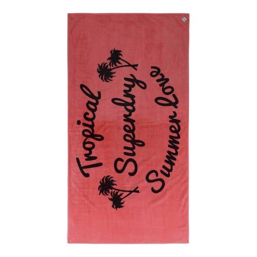 Serviette Superdry Summer Beach Towel Coral Pop