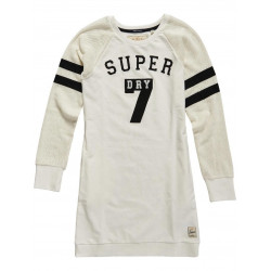 Robe Superdry College Tribe Sweat Dusty Ecru