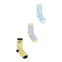 Lot Chaussettes Superdry Ditsy Palm White Yellow