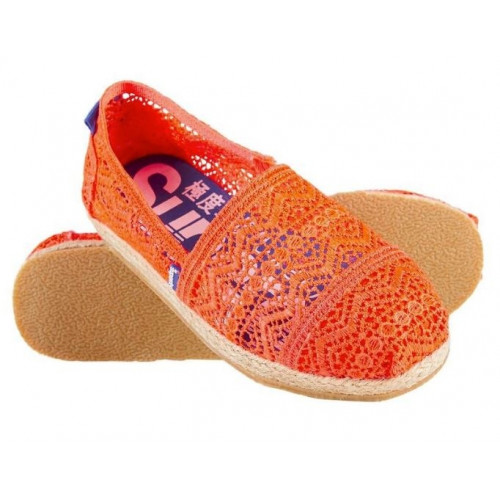 Espadrilles Superdry Jetstream Lace Fluro Coral