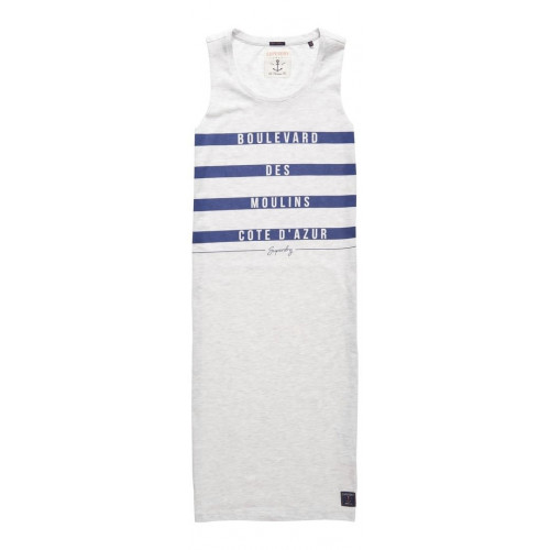 Robe Superdry Mariner Stripe Midi Dress Ice Marl