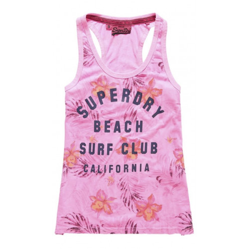 Débardeur Superdry Surf Club Aop Overdyed Vest Pnk