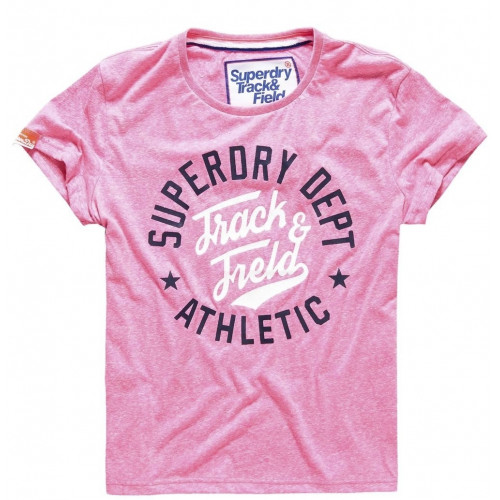 T-shirt Superdry Trackster Pink Sorbet Snowy
