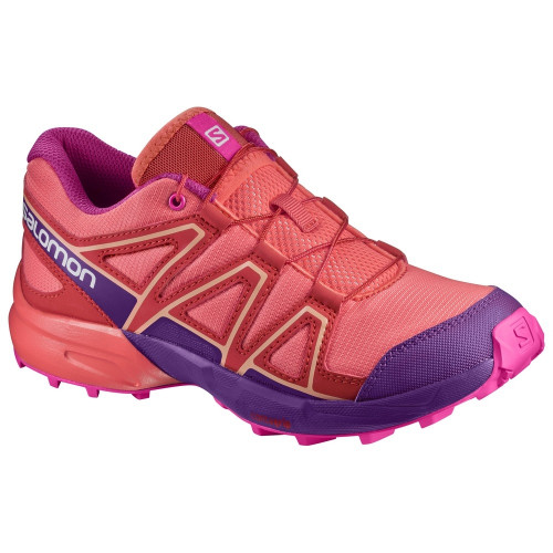 Chaussures Salomon Speedcross J Liv Cor Acai Rose