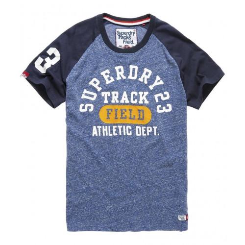 T-shirt Superdry Trackster Baseball Atlantic Mid