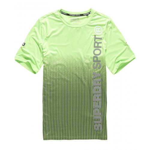 T-shirt Superdry Sports Athletic Dissolve Lime
