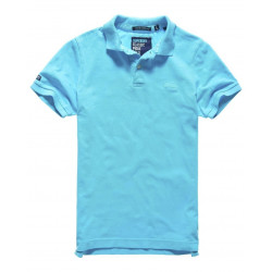 Polo Superdry Vintage Destroy Pique New Turquoise