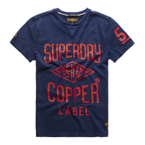 T-shirt Superdry Copper Label Café Race Indigo
