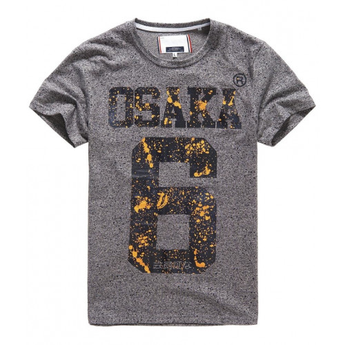 T-shirt Superdry Osaka Splatter Grey Grit