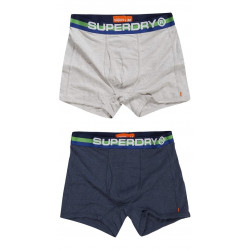Pack 2 Boxers Superdry Retro Sport Navy / Ice