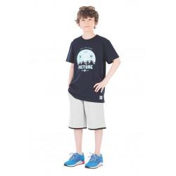 Tee-shirt Picture Organic River Dark Blue